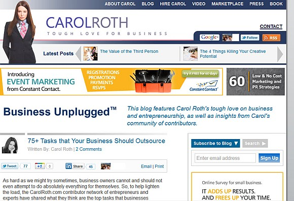 featured on carol roth
