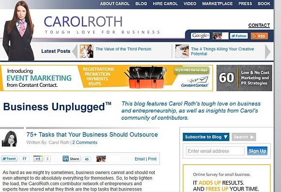 featured on carol roth