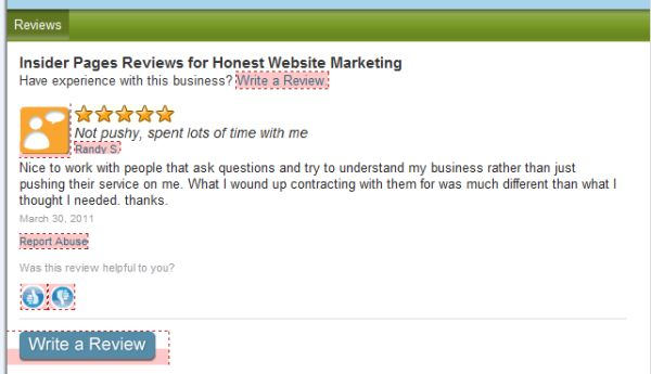 insider pages honest website marketing review