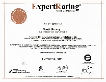 ExpertRating.com General Search Engine Marketing Certification